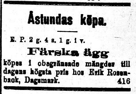 """Lena-Erik"" gjorde hela tiden uppköp av jordbruksprodukter som han sedan sålde vidare."