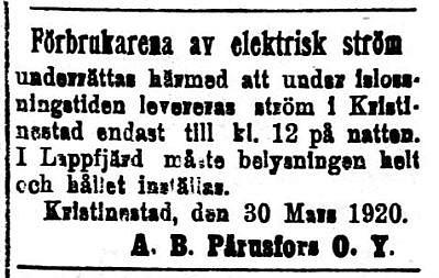 19200331 Pärus Fors bryter strömmen vid islossning