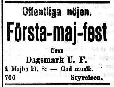 19200501 Första-maj-fest DUF