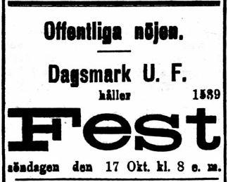 19201016 DUF ordnar fest