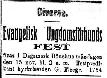 19201113 Evangelisk ungdomsfest