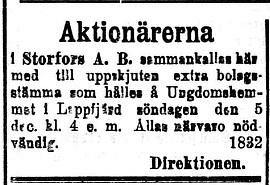 12 januari 1920 räknades Storfors Såg som en given framgångssaga men som det senare visade sig en katastrof för flera Lappfjärdsbor.