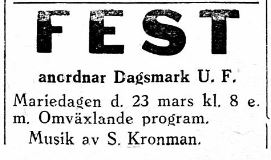 Så gott som på alla fester så sköttes musiken av Selim Kronman.
