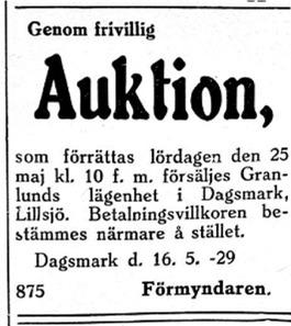 """""""Lilltopinas-Johannesas"""" lägenhet Granlund på Lillsjölidvägen skall säljas."""
