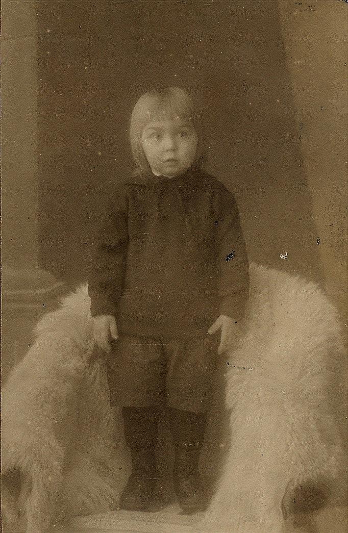 Birger Sonntag som 2-åring, år 1922.