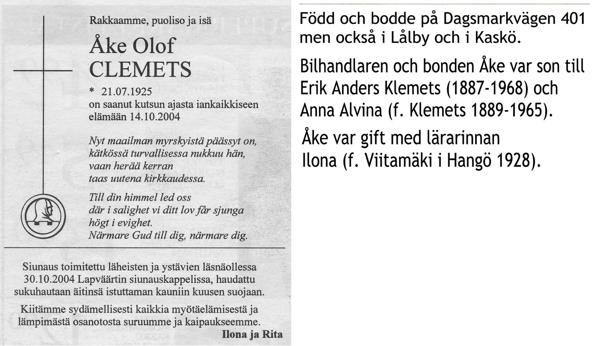 Clemets Åke finsk