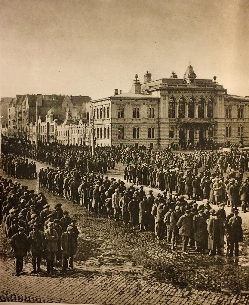Enbart i Tammerfors togs över 10 000 rödgardister till fånga.