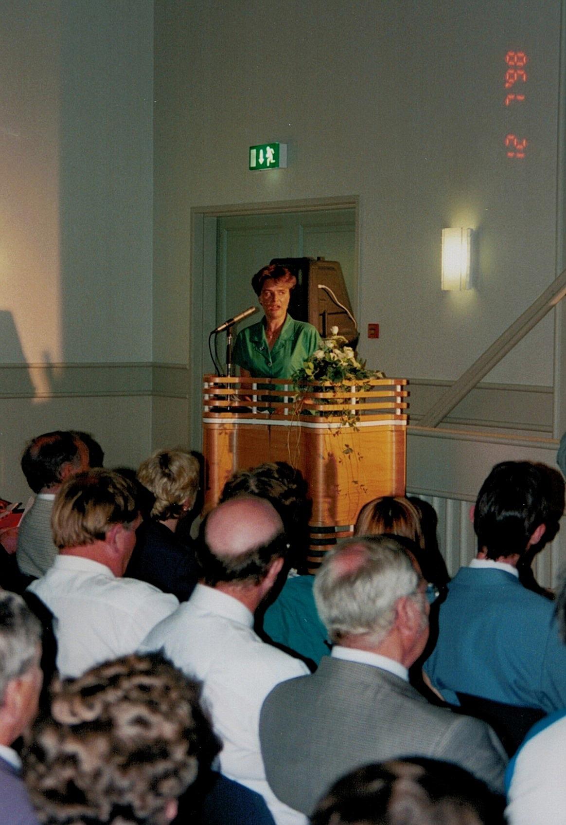 Festtalare var EU-parlamentarikern Astrid Thors.