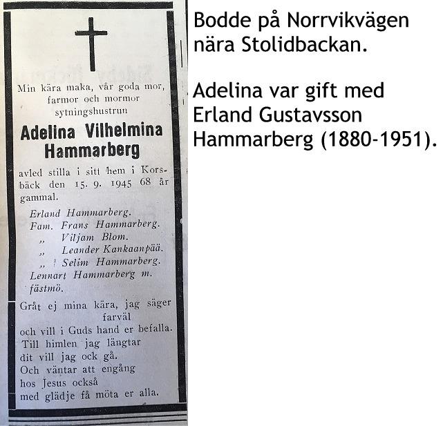 Hammarberg Adelina