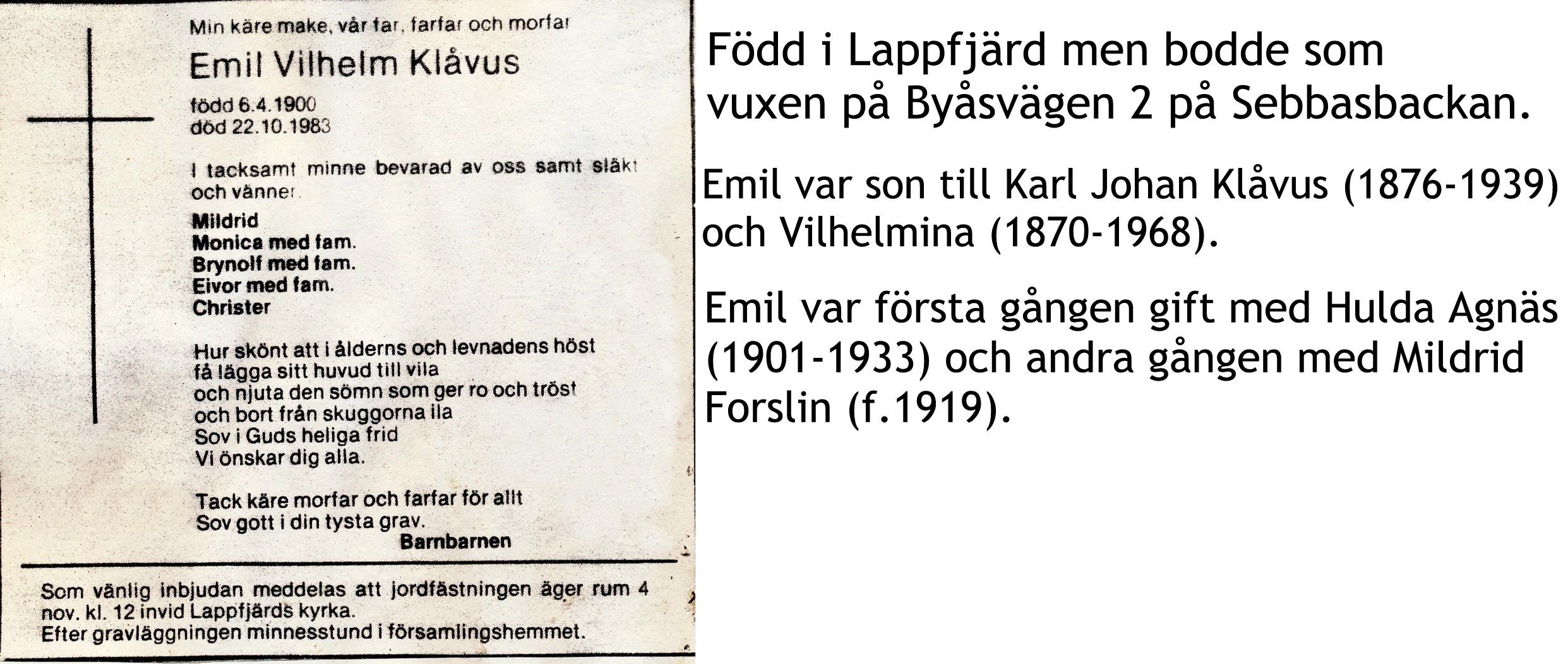 Klåvus EMIL