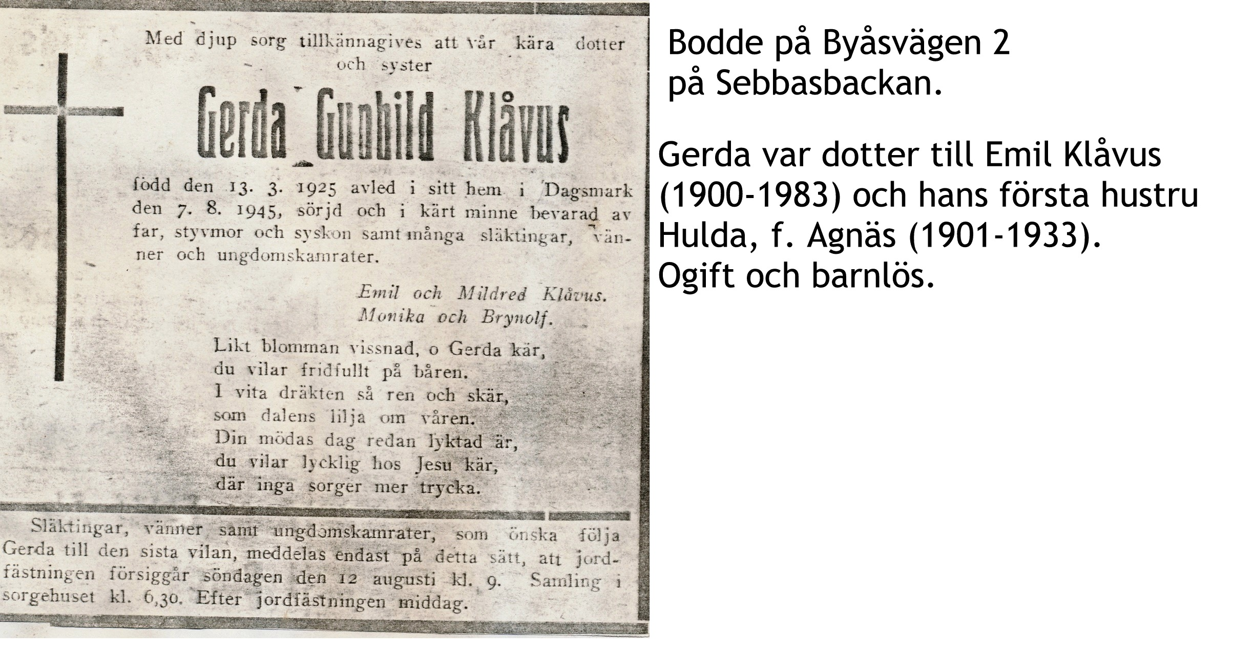Klåvus Gerda