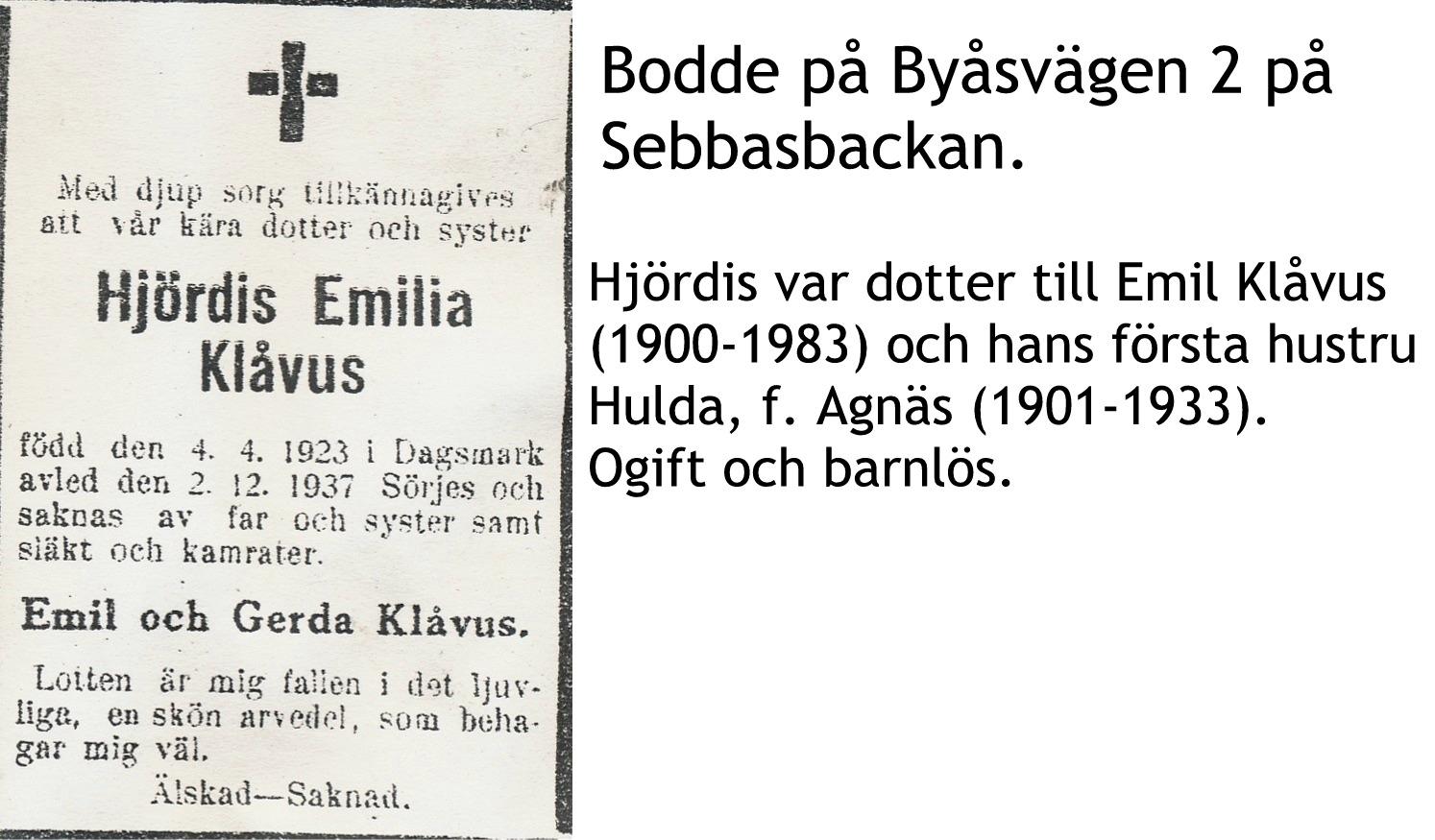 Klåvus Hjördis