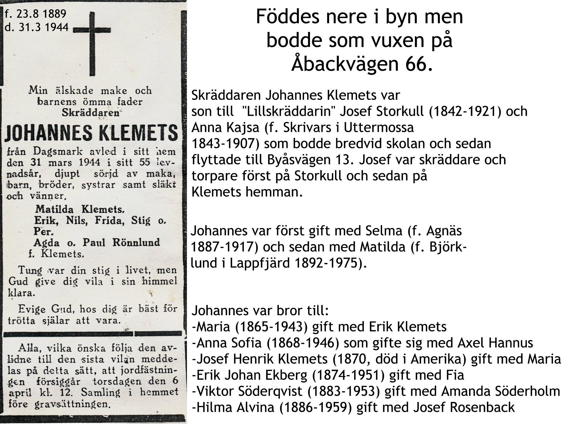 Klemets Johannes