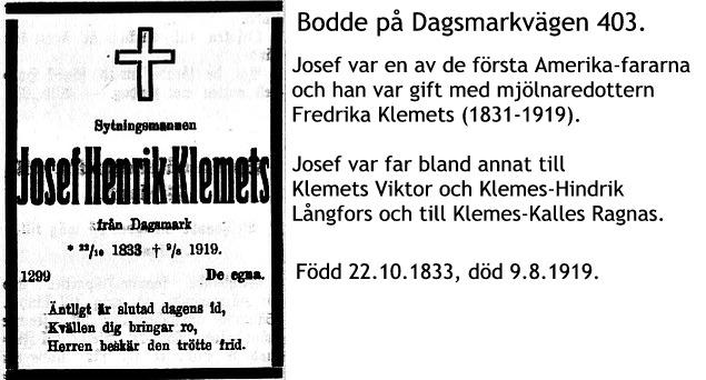 Klemets Josef Henrik
