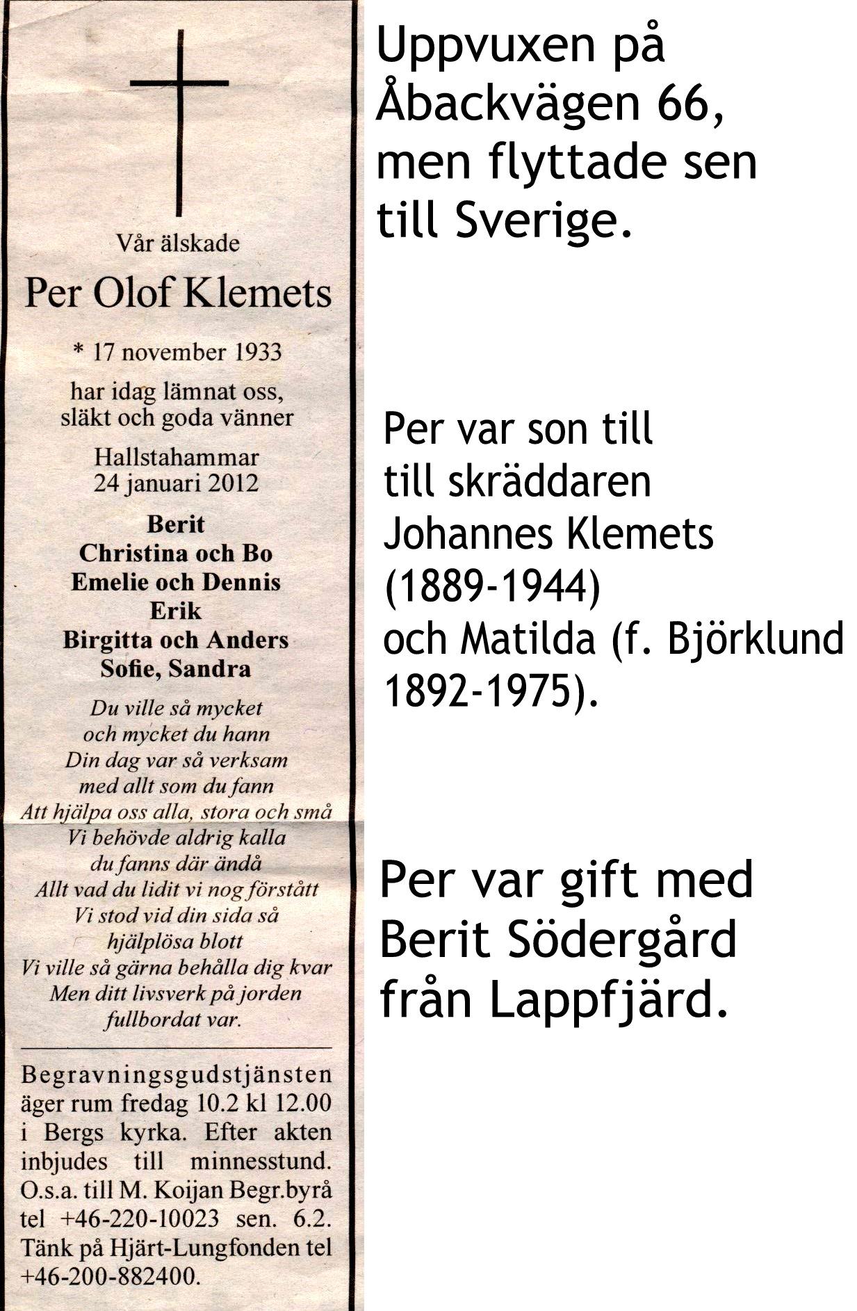 Klemets Per