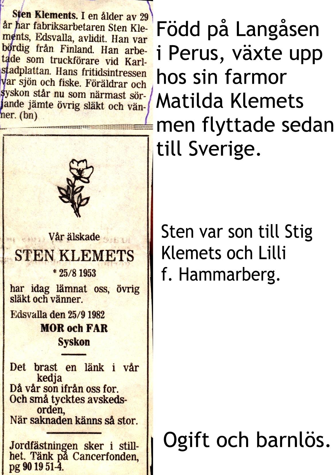 Klemets Sten