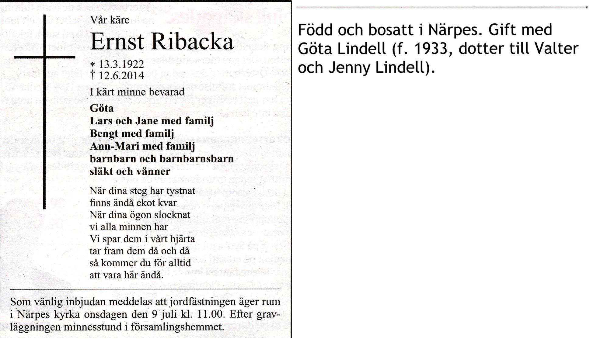 Ribacka Ernst