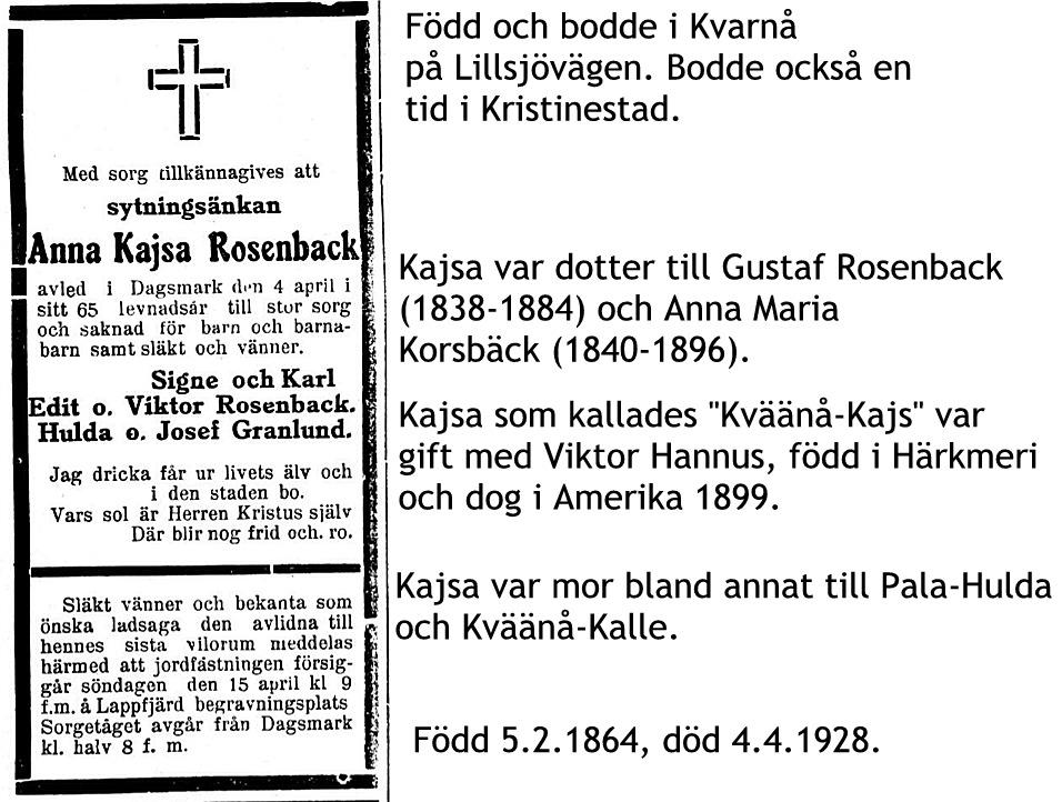Rosenback Anna Kajsa