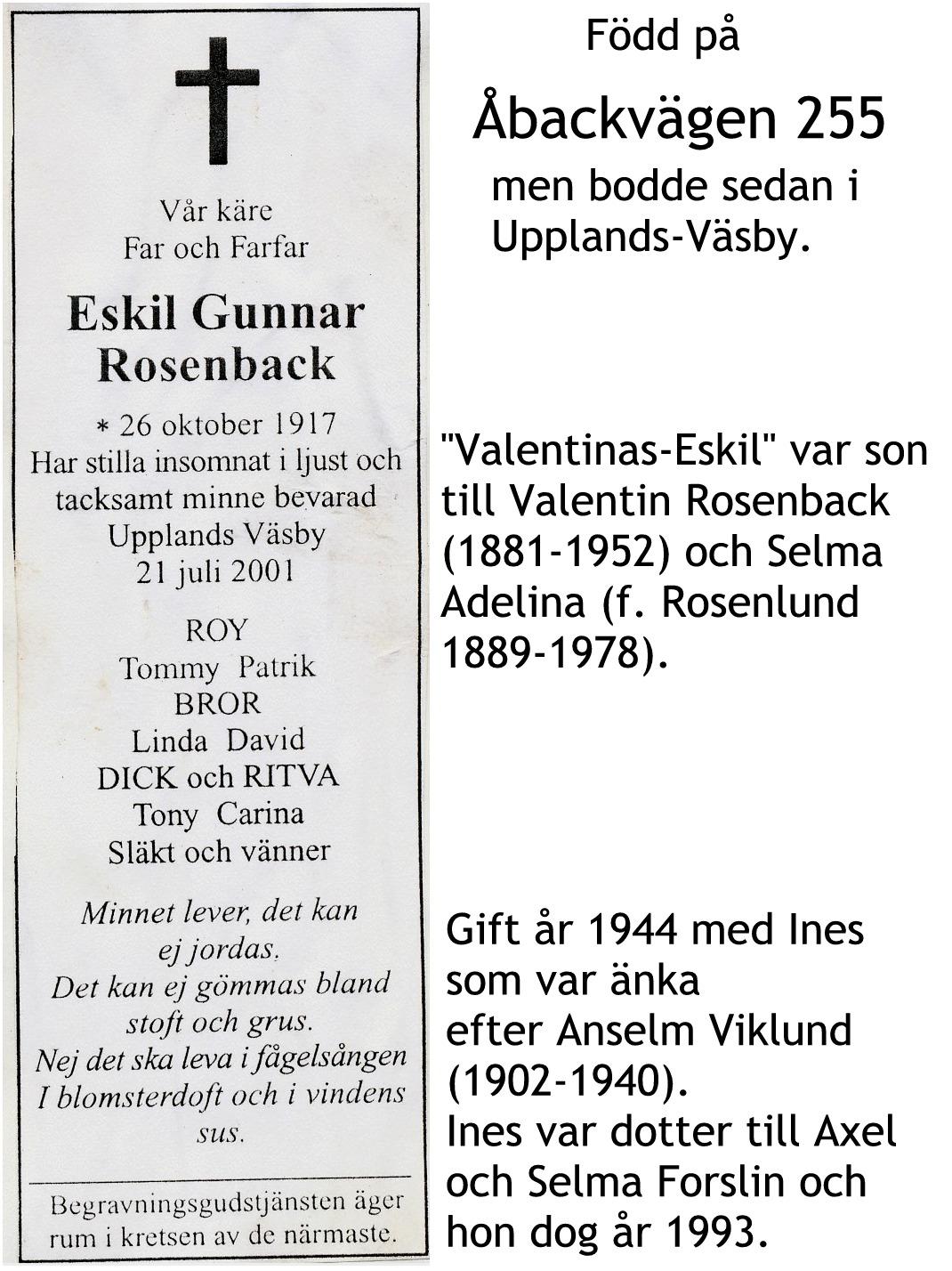 Rosenback Eskil