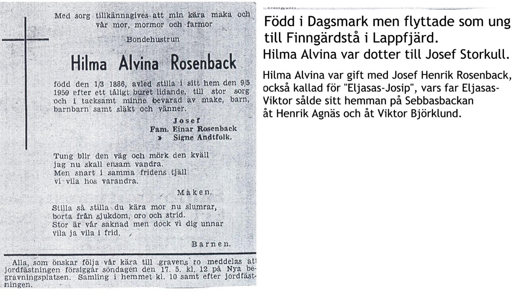 Rosenback Hilma Alvina