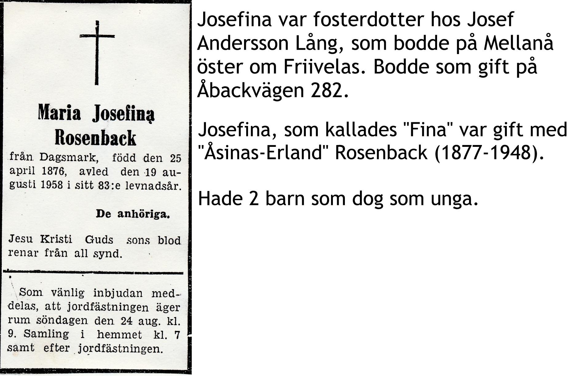Rosenback Josefina