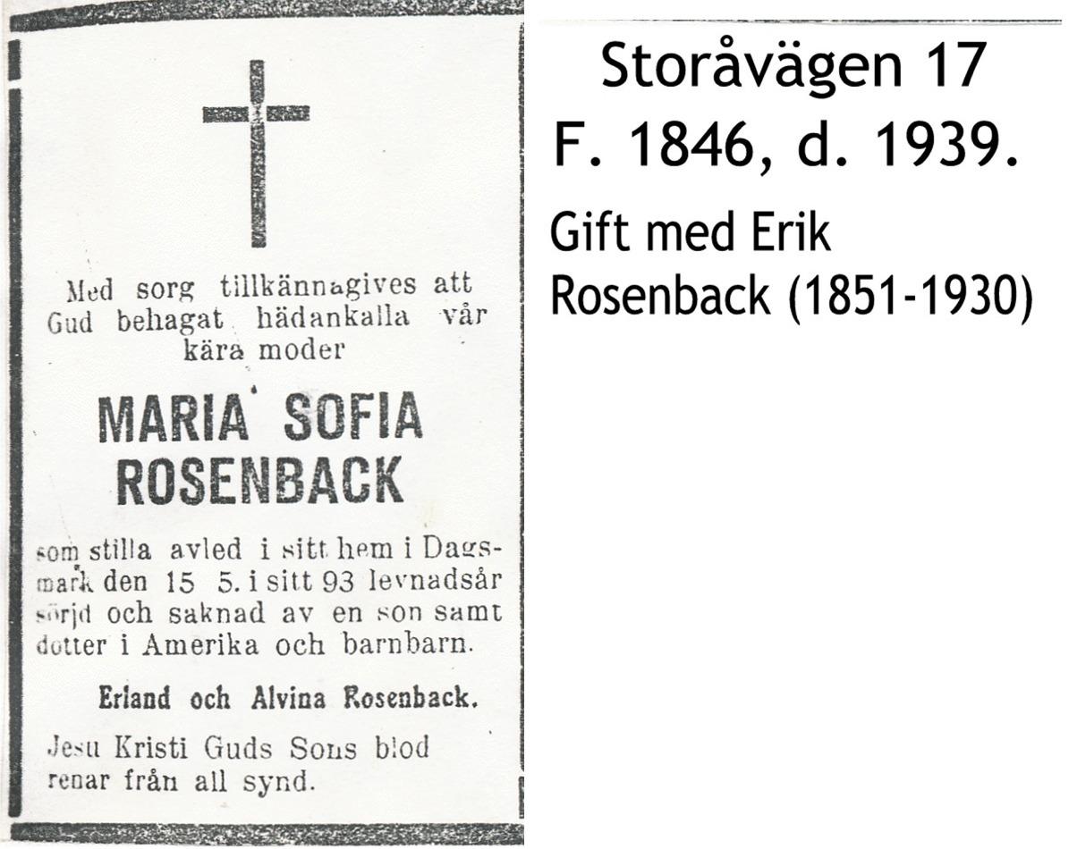 Rosenback Maria Sofia