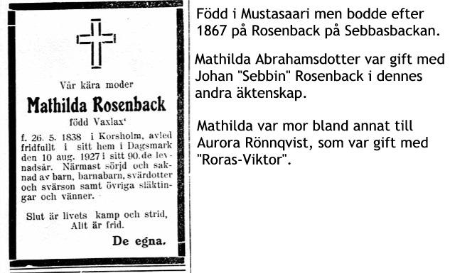 Rosenback Mathilda