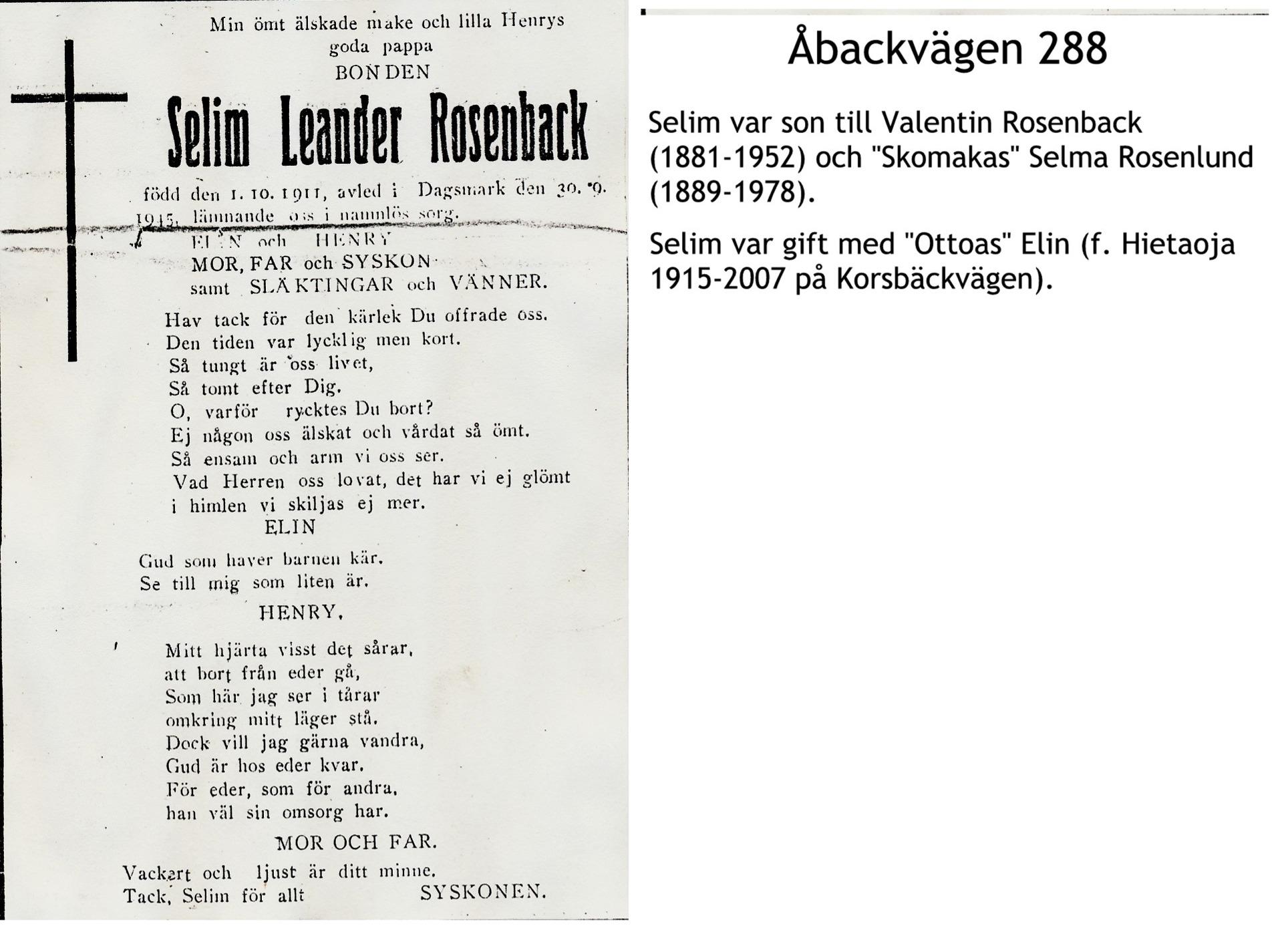 Rosenback Selim Leander