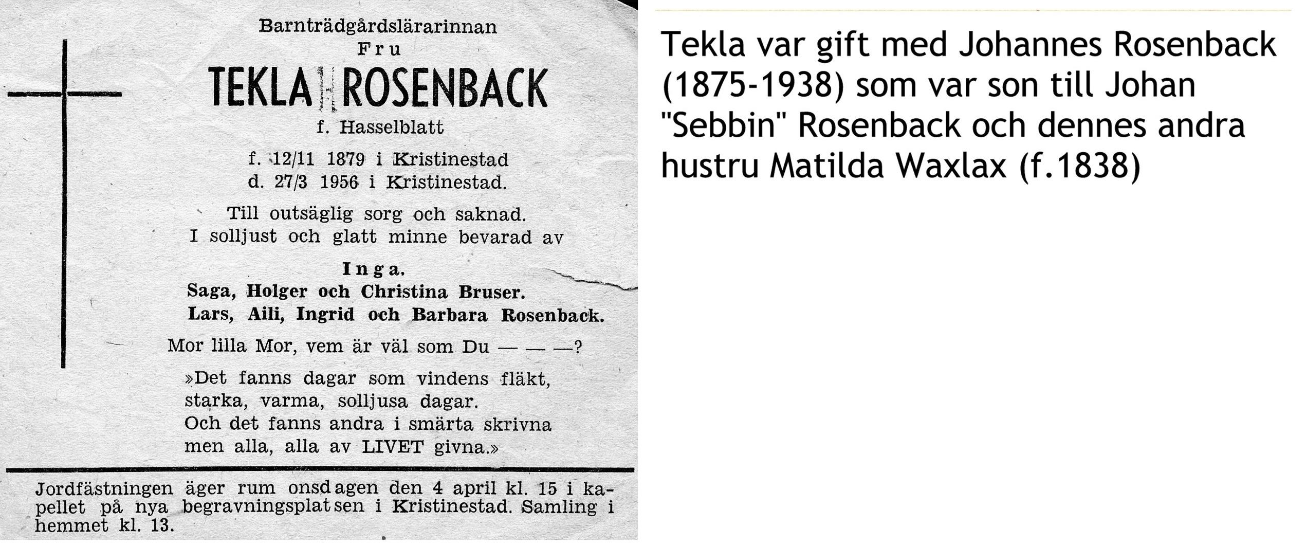 Rosenback Tekla
