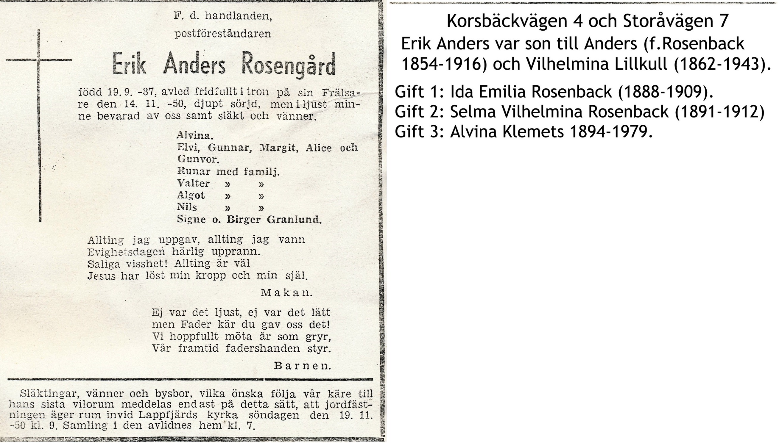 Rosengård Erik Anders