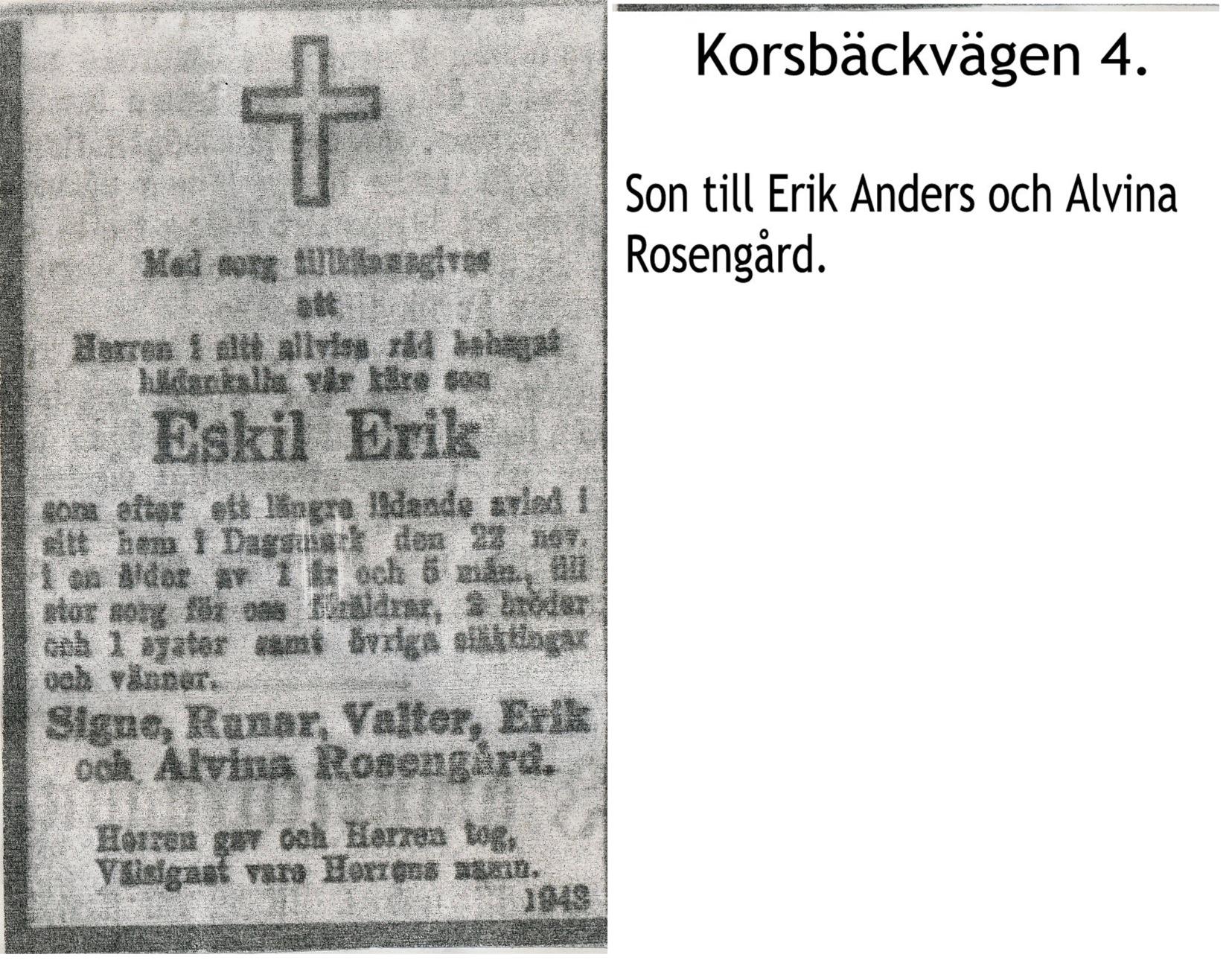 Rosengård Eskil Erik