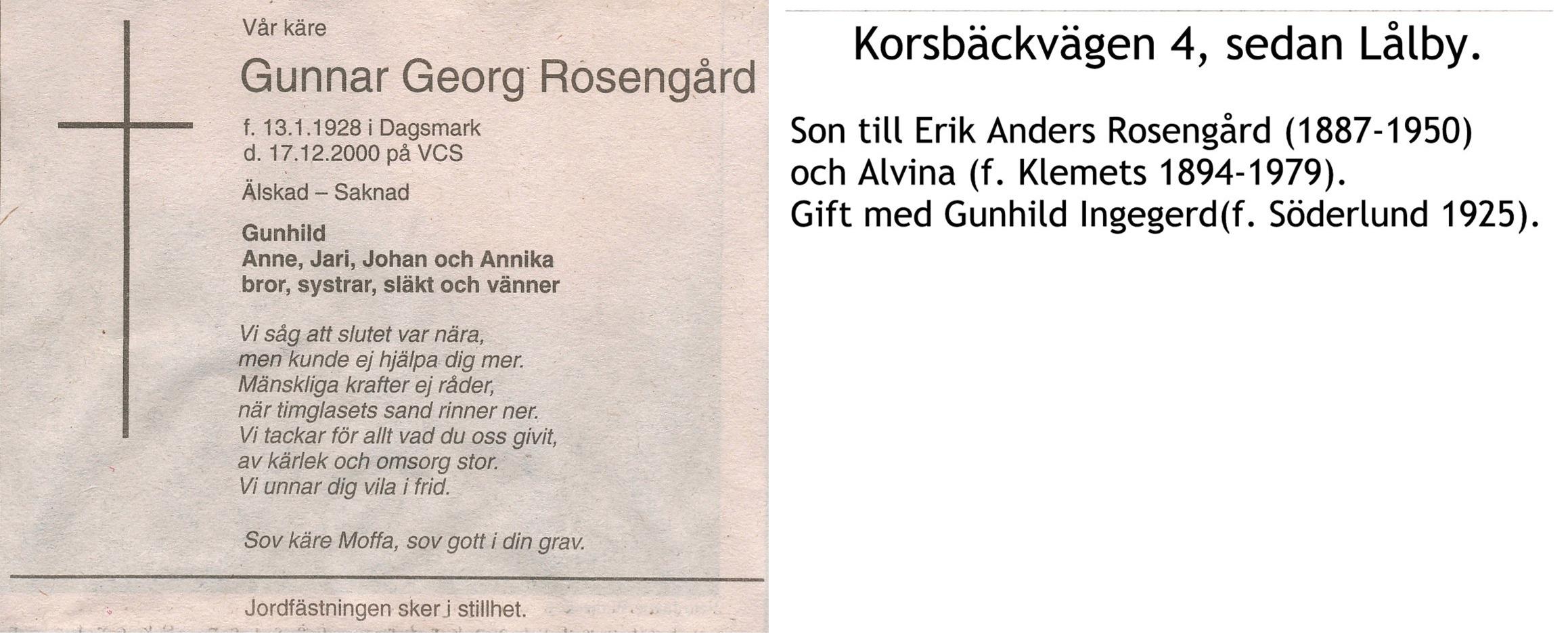 Rosengård Gunnar