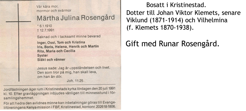 Rosengård Märta
