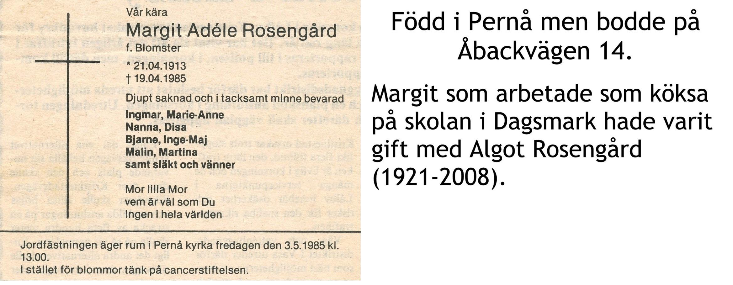 Rosengård Margit Adele