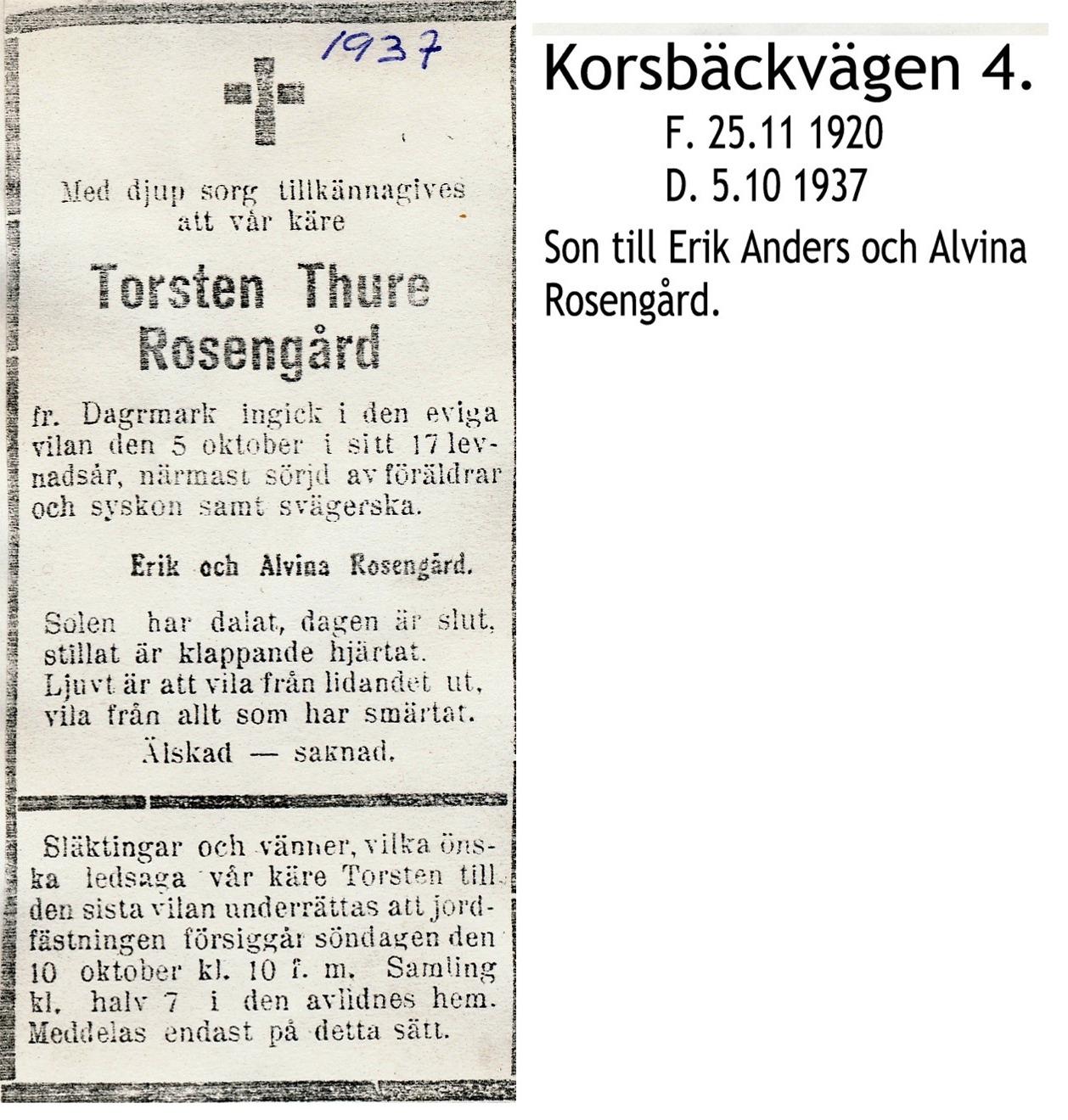 Rosengård Torsten Thure