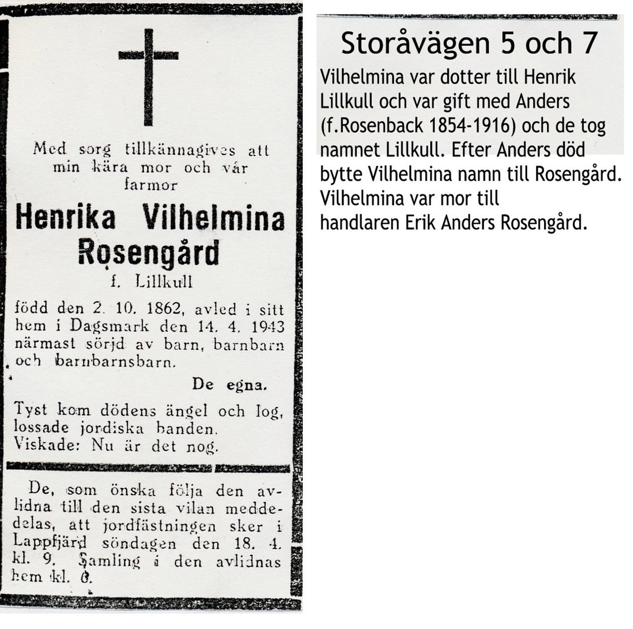 Rosengård Vilhelmina