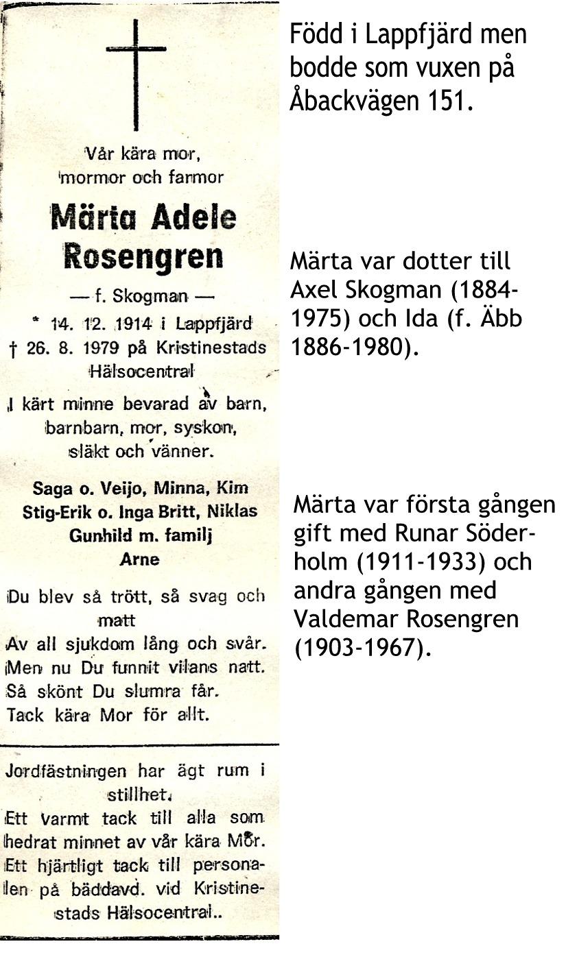 Rosengren Märta