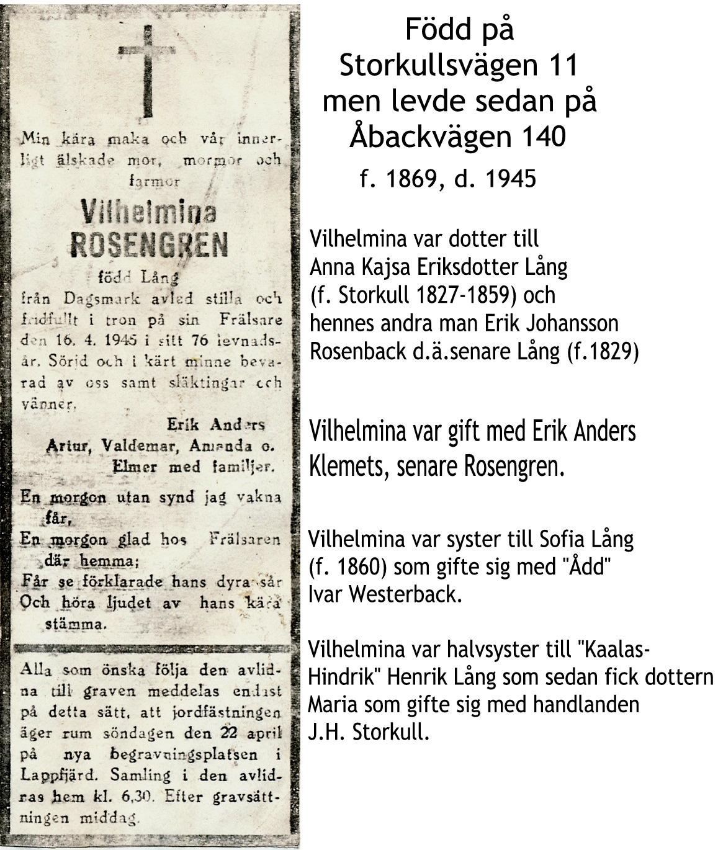 Rosengren Vilhelmina