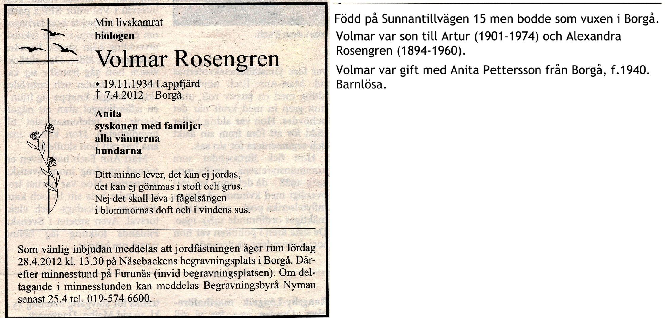 Rosengren Volmar