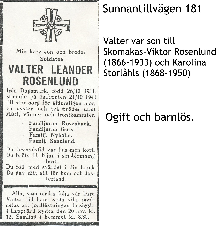 Rosenlund Valter Leander