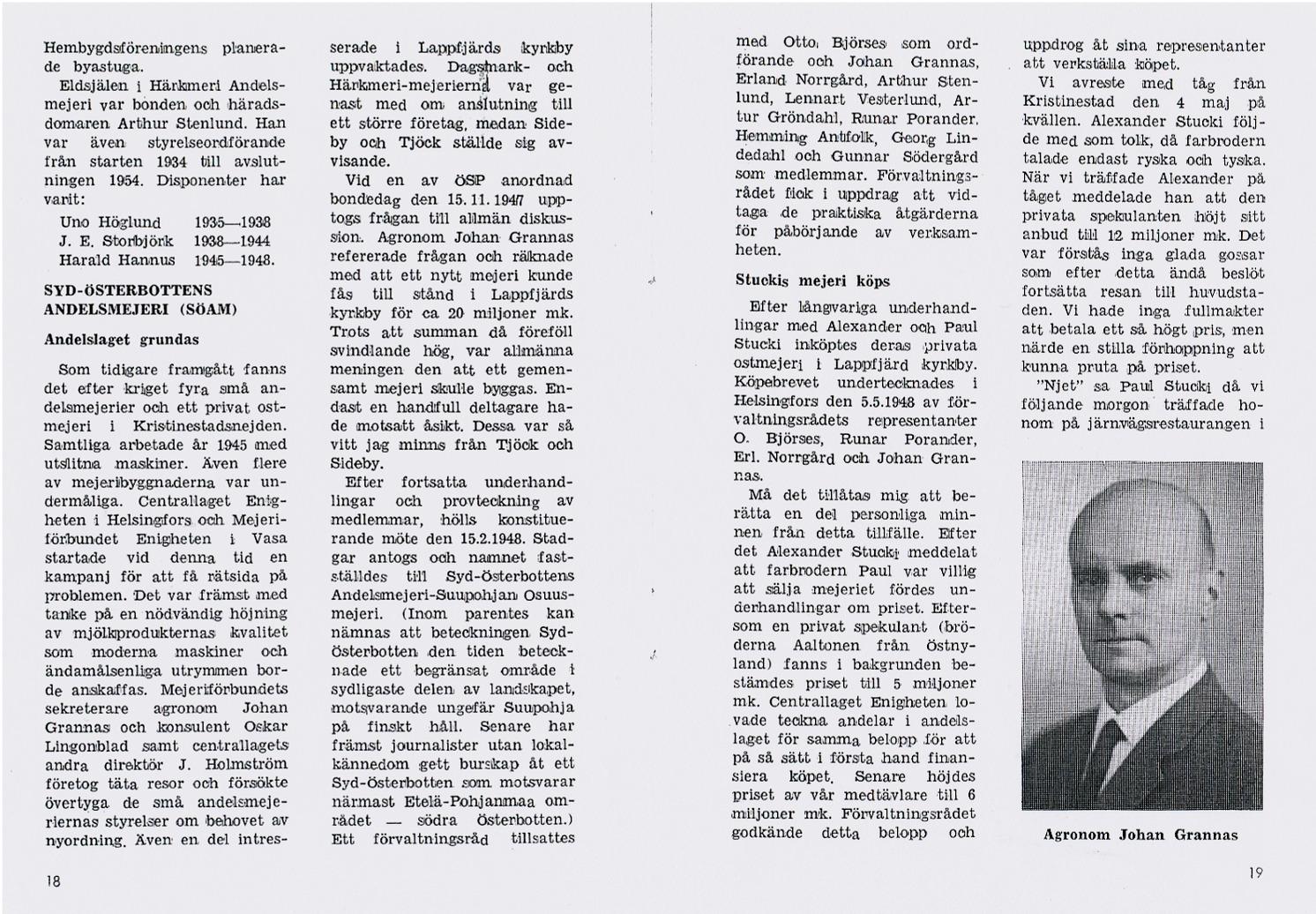 Sid 18-19 SÖAM bildas i Lappfjärd