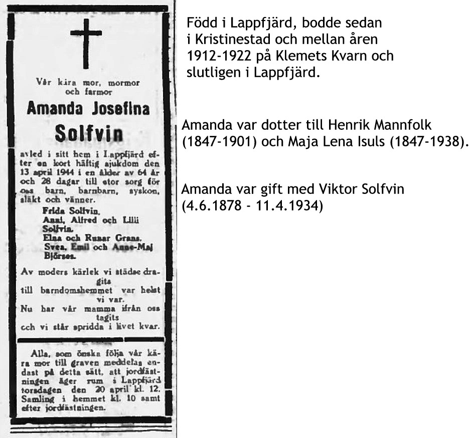 Solfvin Amanda Josefina