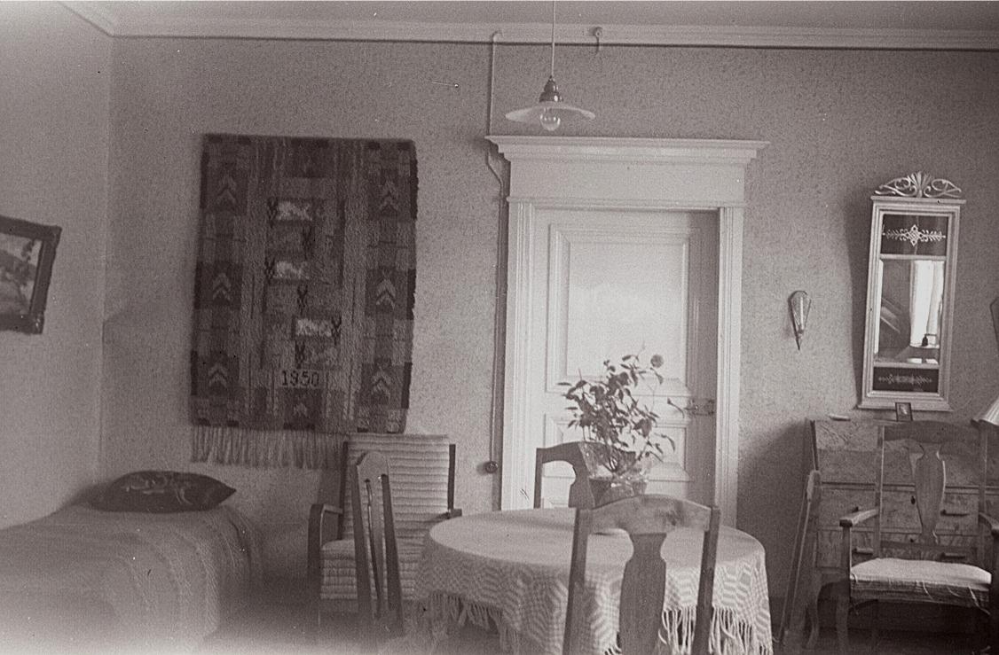 Nordöstra kammaren i lärare Selim Björses bostad.