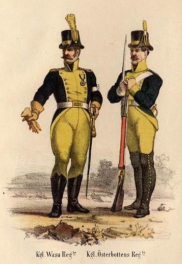 Kungliga Vasa Regemente och Kungliga Österbottens regemente.