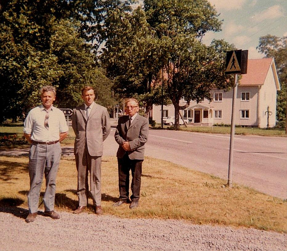"""""""Valentinas"""" Eskil Rosenback, """"Kaalas"""" Arne Rosengren och """"Koll"""" Frans Storkull sommaren 1968."""