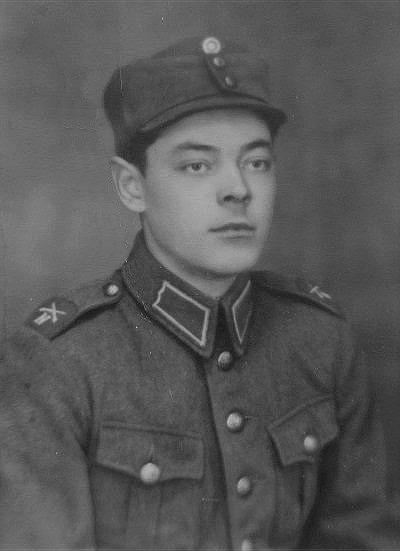 Eskil Rosenback i militären i slutet på 1930-talet.