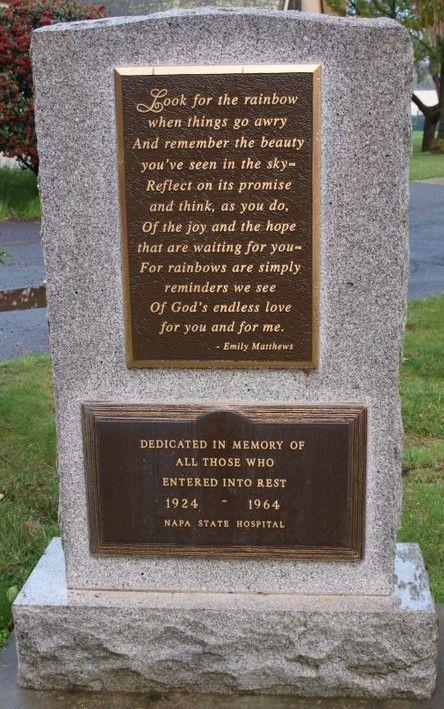 Invid sjukhuset i Napa där Josef Lillkull dog 1932, har det nyligen rests en minnessten över de som dog där under åren 1924-1964.