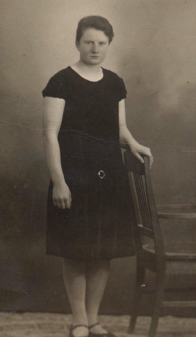 Ines Forslin i unga år.