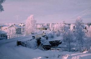 Centrum i Dagsmark ungefär 1970. Foto: Ralf Nyholm.