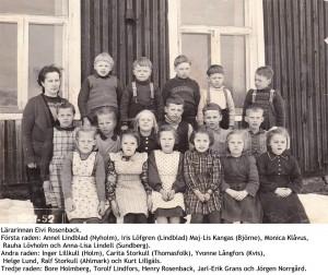 Småskolans elever 1951 - 1952.
